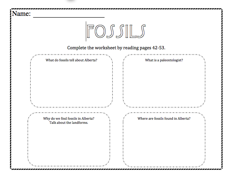 Fossil Worksheets Photos Getadating – Fossil Worksheet